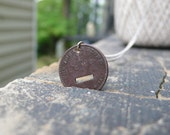 copper dash hyphen coin necklace - upcycled and circulated coal miner's scrip