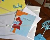 Baby Bump Baby Shower Invite Set
