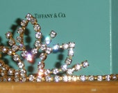 Sparkling Tiara with Rhinestones for Wedding or Party with Tiffany & Co Box