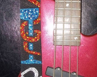 Love Is The Drug guitar strap