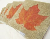 Thanksgiving Coaster Gift Set - Maple Leaves