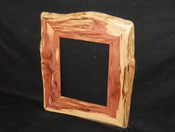 rustic 8 x 10 cedar picture frame. Black Bedroom Furniture Sets. Home Design Ideas