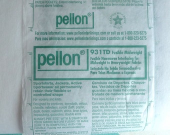1 yard Pellon 931TD Fusible Mediumweight/Heavyweight Interfacing, Iron in Stabilizer