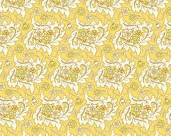 """1 Yard """"Finery"""" in Gold, Freshcut 2011, Heather Bailey"""