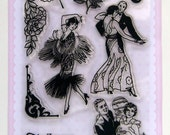 Dance - vintage series - set 12 - Flonz clear stamps