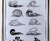 Waves -- Flonz clear stamps set 025