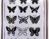 Butterflies -- Flonz clear stamps set 026
