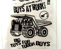Boys at Work - Machines series - set 02 - Flonz clear stamps