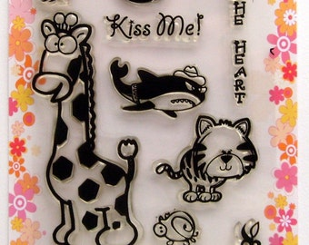 Funny Animals - FLONZ clear stamps - set 2