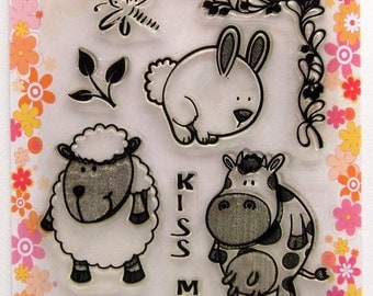 Funny Animals - FLONZ clear stamps - set 4