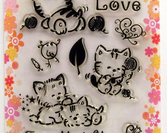 Funny Animals - FLONZ clear stamps - set 5