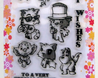 Funny Animals - FLONZ clear stamps - set 10
