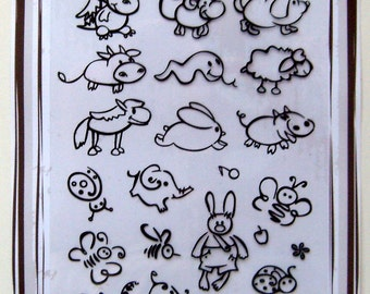 Small animals -- Flonz clear stamps set 022