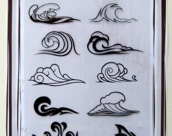 Waves -- Flonz clear stamps set 025