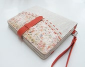 Floral parttern leather iPad case (iPad 4, iPad 3, iPad 2, iPad 1) with card, stationary and sim card pockets - Make it your style