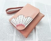 Nude Pink Leather iPhone 5/ 4S/ 4 Pouch with Card - Cash - Coin Pockets -  Let's Create Your Style