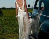 Handmade Vintage Inspired 1930s slipper satin Wedding Dress Jean harlow gown