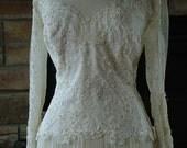Wedding dress 1970s vintage victorian style bridal gown seventies does victorian wedding dress