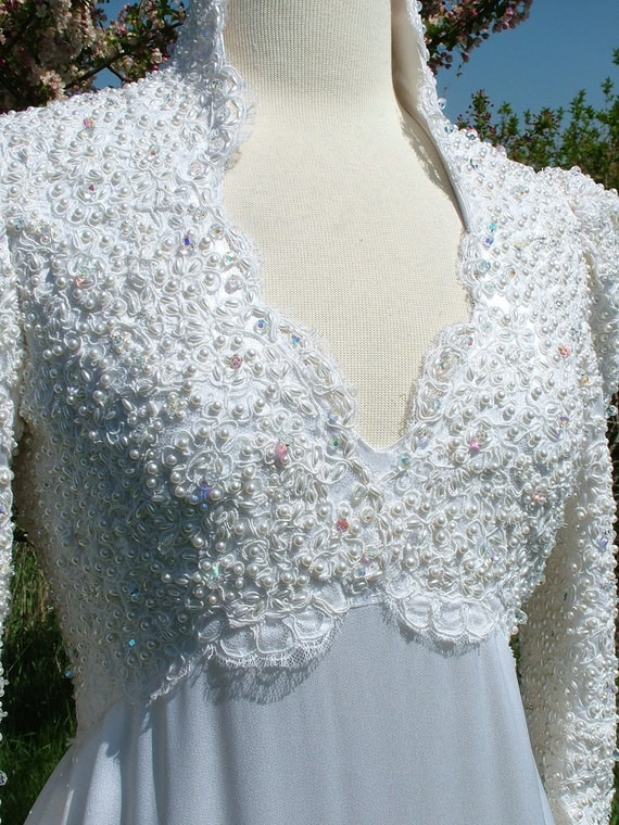 Wedding dress vintage 1970s camelot renaissance style games of for 1970s vintage wedding dresses