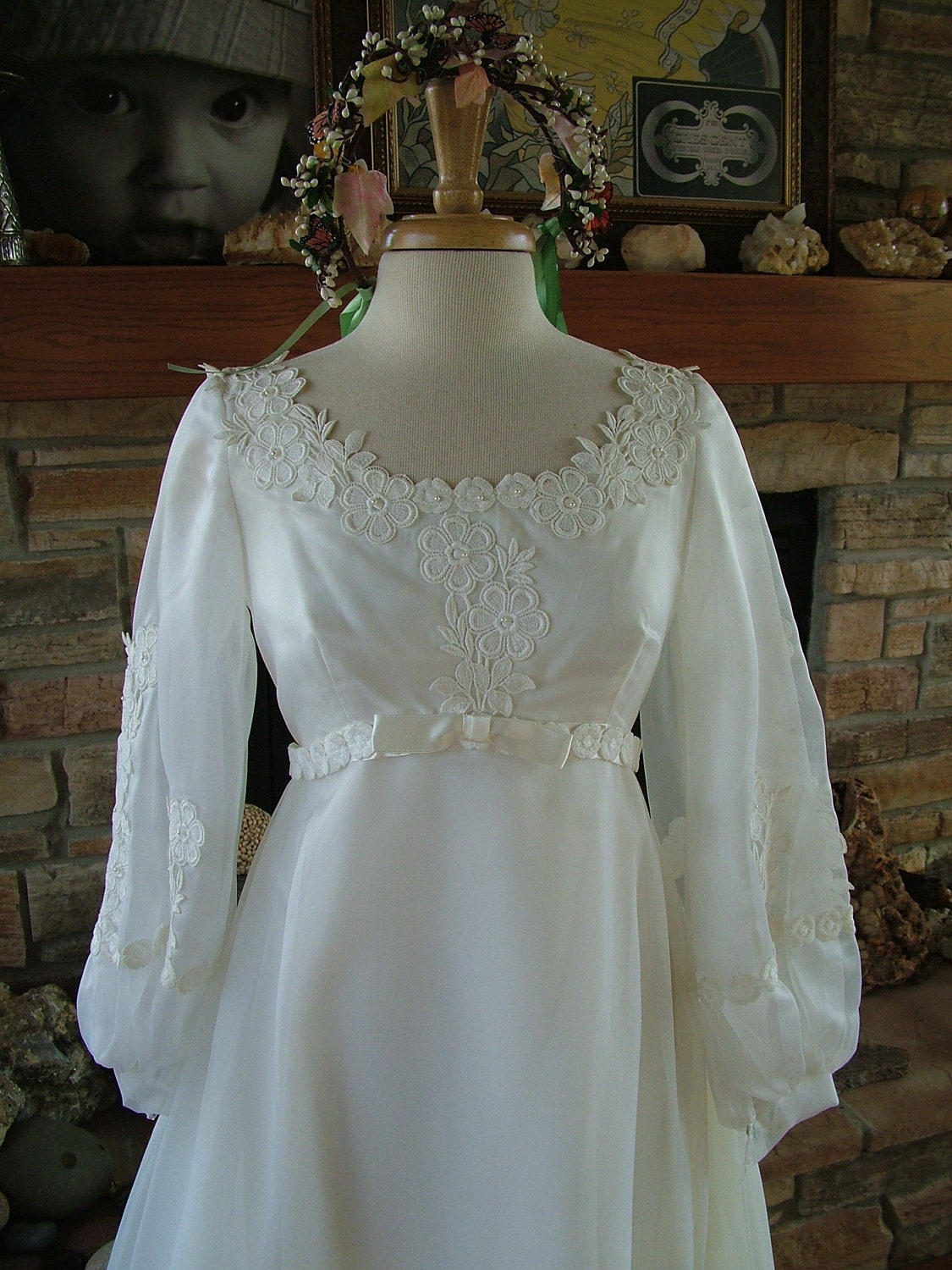 Item details for 1970s vintage wedding dresses