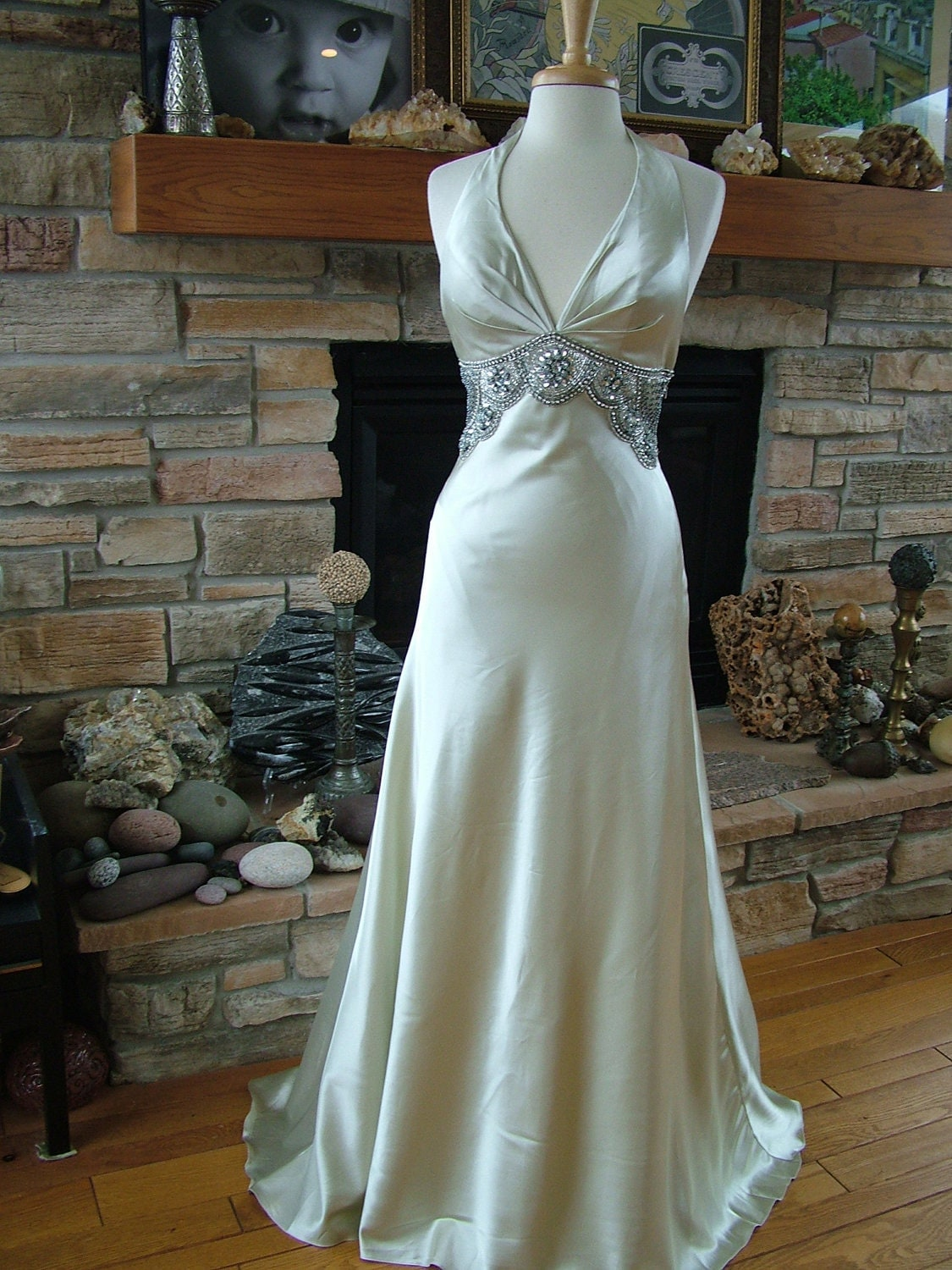Wedding dress 1930s vintage inspired bridal gown reception