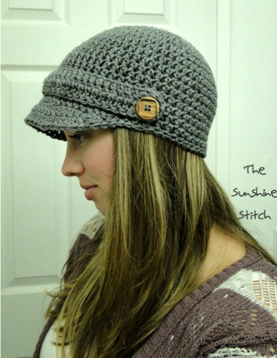 All Crochet Com : Items similar to PATTERN download pdf crochet adult newsboy cap ...