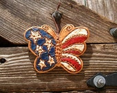 Rustic Americana Butterfly Wall Art / Patriotic Home Decor