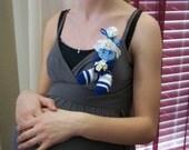 Mini Sock Corsage - 'LULU' - Baby Shower Corsage mommy to be gift baby shower gift Corsage