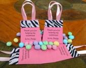 10 Count - ZEBRA PURSE FAVOR - Personalized Party Favor Bags Birthday favors Personalized party favors