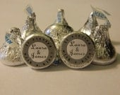 IT STARTED With a KISS - Hershey Kisses - 108 self-advesive stickers - Labels Only - Personalized favors wedding favors