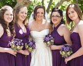 Bridesmaid Dress - Convertible Jersey Infinity Wrap Style