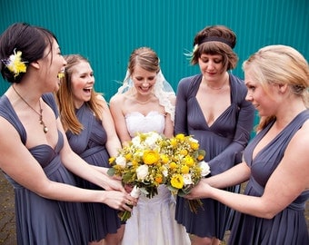 Gray Infinity Bridesmaid Dress