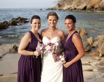 Convertible Infinity Dress Bridesmaid Dress - Jersey Wrap Style