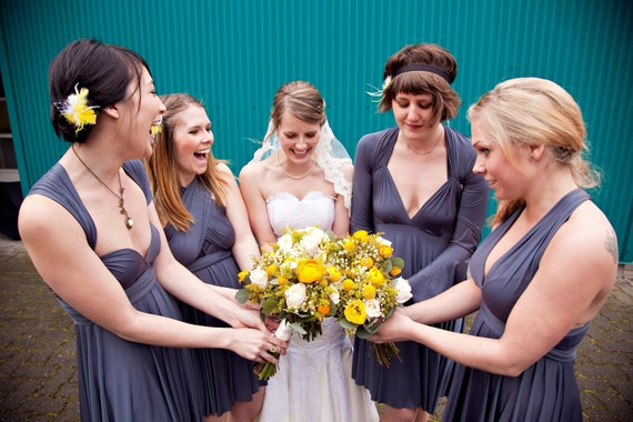 Gray Infinity Bridesmaid Dress