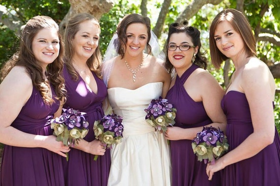 Bridesmaid Dress - Convertible Jersey Infinity Wrap Style