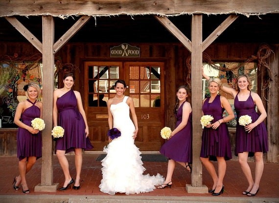 Eggplant Purple Convertible Bridesmaid Dress