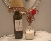 Wine Bottle Lamp-  Middle Sister Goodie Two-Shoes