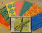 Gift Box of Cards - 8 cards in the box - assortment of handmade lino-cut prints