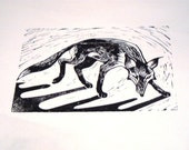 Padding Fox // Hand pulled linocut print // 4 of 4