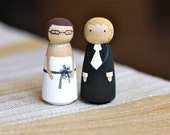 FULLY Customizable MINI Wedding Cake Toppers: Perfect for brides on a budget.