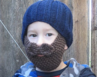 Knitting Pattern ONLY-  Kid's Hat with beard and mustache pdf