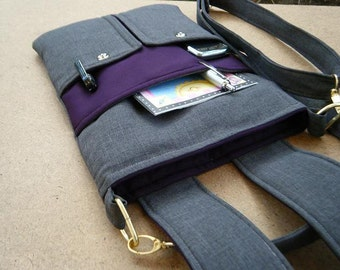 "Laptop bag-11"",13"",14"",15"",17""Macbook,MS SurfacePro,LenovoYoga,Sumsung chromebook,Acer, Hp, ASUS-padded-POCKETS-Blackberry N'Gray"