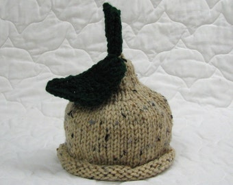 Hand knitted BOSC PEAR hat