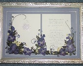 Wedding Invitation Gift Custom Pressed Flower Embellishment Bride Groom
