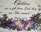 Children Scripture Verse Flowers Reproduction Baby Gift Pregnant Mom Baby Shower