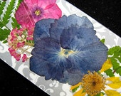 TWO Pressed Flower Bookmarks Christian Gift Friend Feather Grass