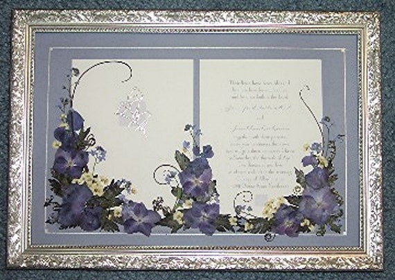 Gifts Using Wedding Invitation: Wedding Invitation Gift Custom Pressed Flower Embellishment
