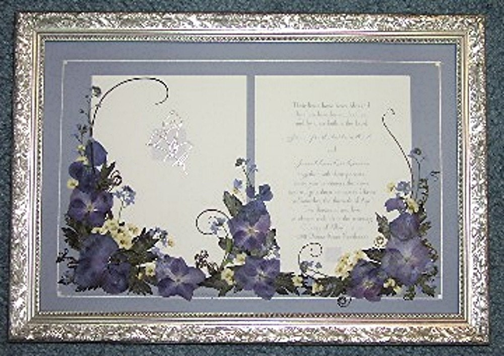 Wedding Invitation Gift Custom Pressed Flower Embellishment