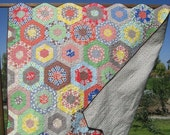 Merry-Go-Round Full or Twin Size Bed Quilt featuring Katie Jumprope fabrics
