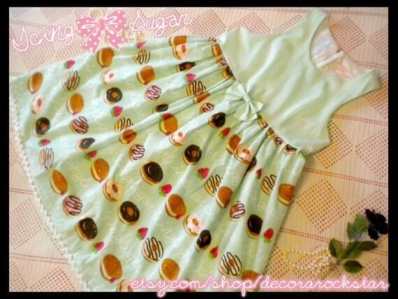 Mint Doughnut Jumperskirt Sweet Lolita Dress
